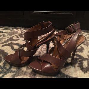 Zara size 7 brown heels. Make any offer!  💸😊